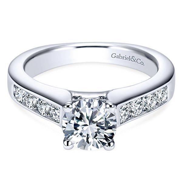Gabriel & Co ER3962 Channel Set Engagement Ring Setting