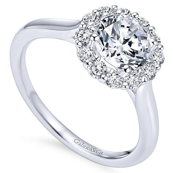 Gabriel & Co ER7498 Halo solitaire engagement ring setting