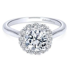ER7498 Halo solitaire engagement ring setting