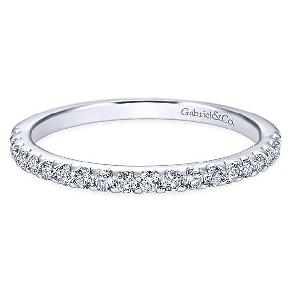 Gabriel & Co Wb7480 shared prong wedding band