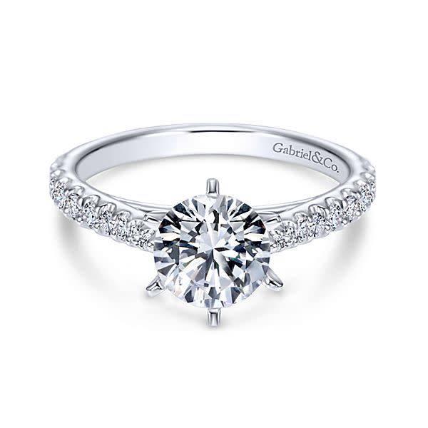 ER6692 Six Prong Classic Engagement Ring