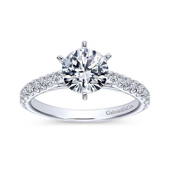 Gabriel & Co ER6692 Six Prong Classic Engagement Ring
