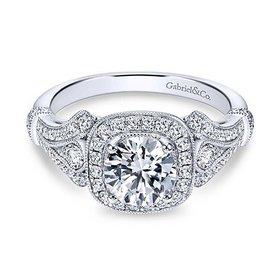 ER7479 Vintage Glamorous Engagement Ring