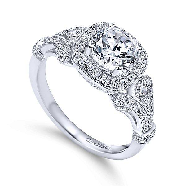 Gabriel & Co ER7479 Vintage Glamorous Engagement Ring