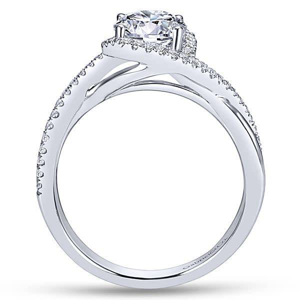 Gabriel & Co ER7804 Criss Cross Halo Engagement Ring