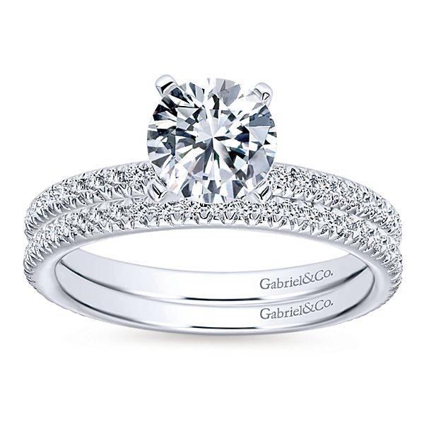 Gabriel & Co WB4181 thin diamond wedding band