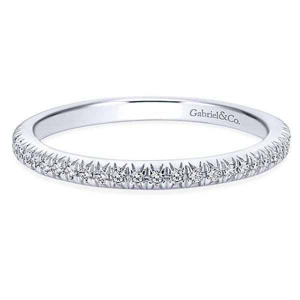 Gabriel Co WB4181 Thin Diamond Wedding Band