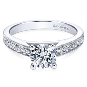 ER3858  Tess Diamond Accent Engagement Ring