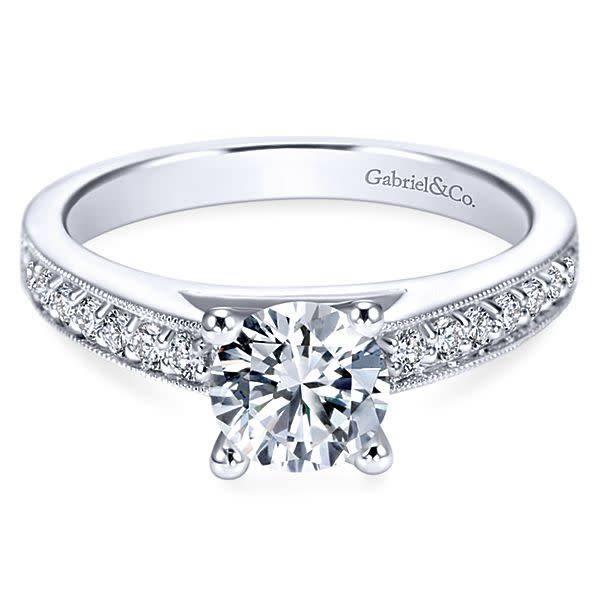 Gabriel & Co ER3858  Tess Diamond Accent Engagement Ring