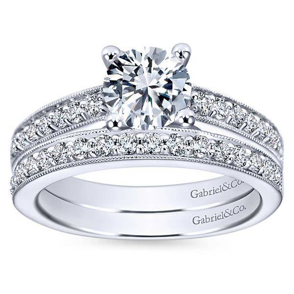 Gabriel & Co ER3858  Tess Diamond Accent Engagement Ring