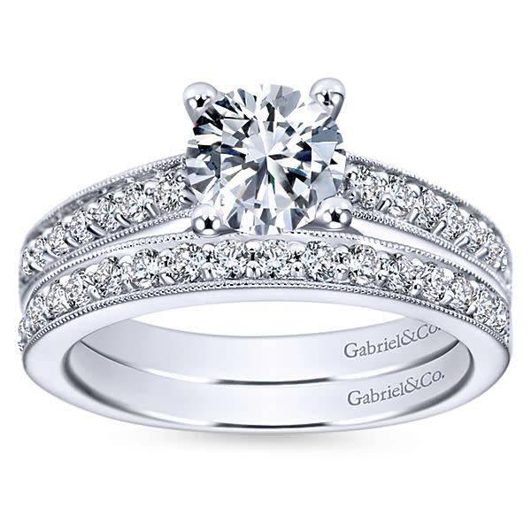 Gabriel & Co Tess Milgrain Engagement Ring Setting