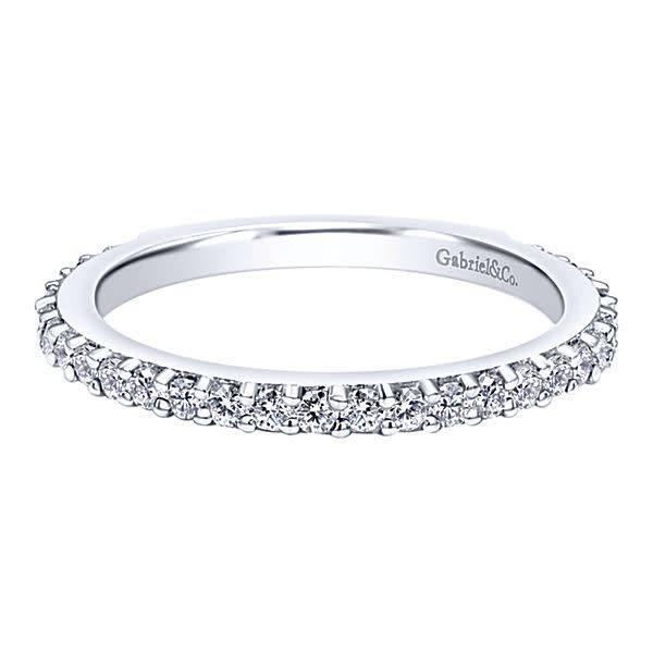 Gabriel & Co LR4576 diamond wedding band