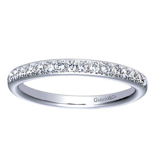 Gabriel & Co AN5318 thin pave diamond band