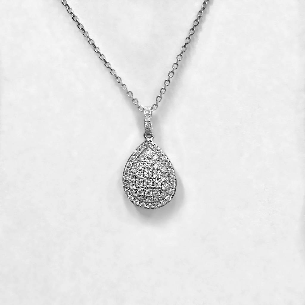 N10994 pear shape diamond pendant