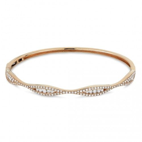 Madison L B1032W Diamond Bangle Bracelet