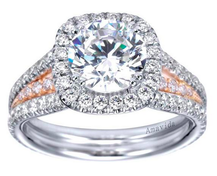 Freedman Jewelers - Two Toned Metal Engagement Ring