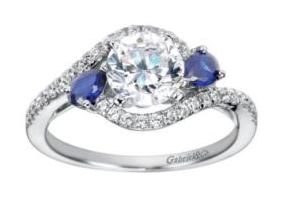 Freedman Jewelers - Colored Stone Engagement Ring