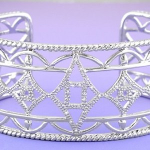 Silver and Diamond Bangle