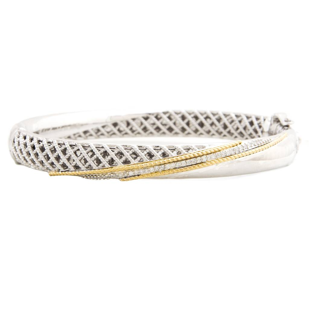 bangles cz thin bangle bracelet bling diamond stackable gold plated modern az pfs cuff jewelry sterling silver