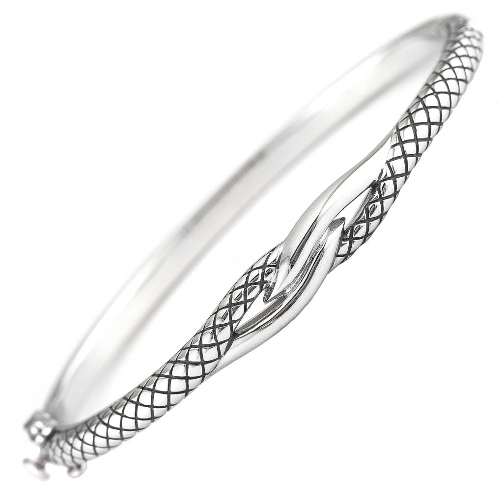 gj twisted product sterling bracelet silver cast heavy bangle