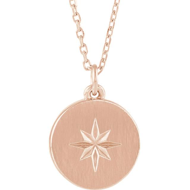 Stuller 14kt gold starburst necklace