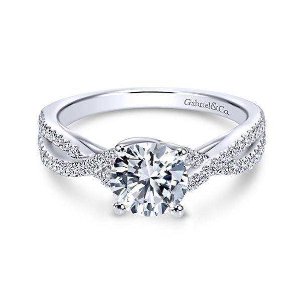 Gabriel & Co Gina Twisted Engagement Ring Setting