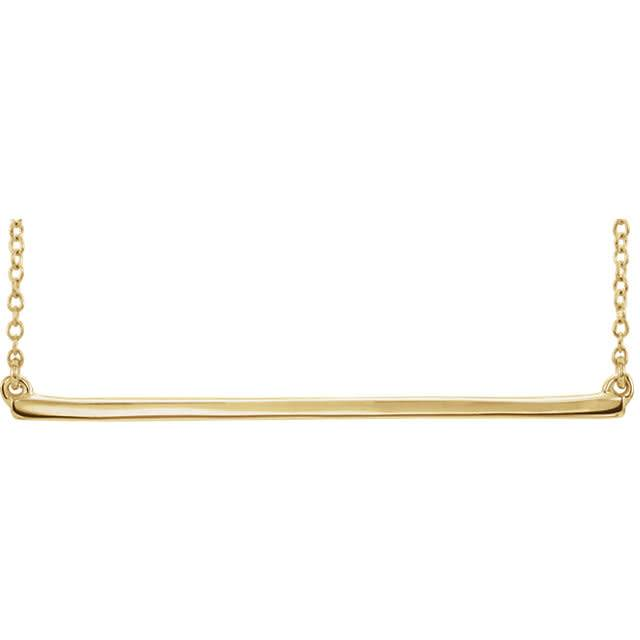 Stuller 86048 Yellow Gold Bar Necklace
