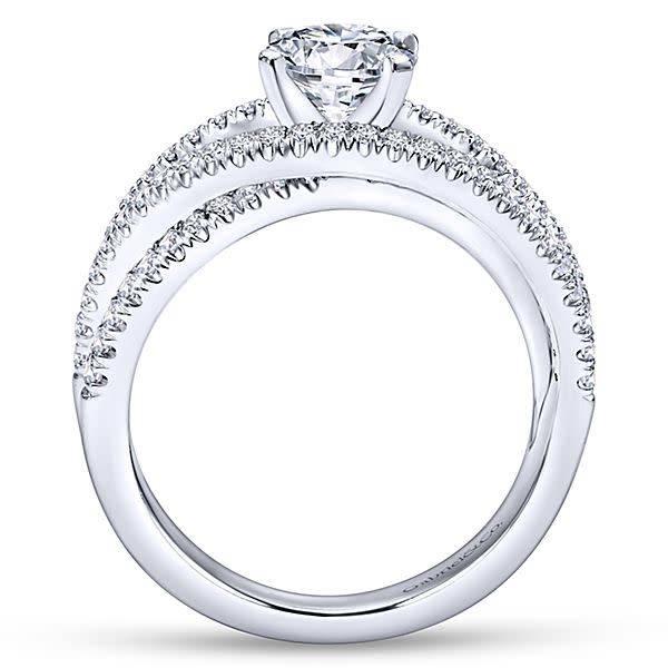 Gabriel & Co Mackenzie Multi Row Diamond Engagement Ring Setting