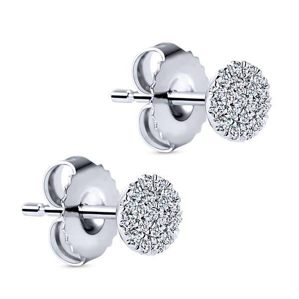 Gabriel & Co EG12966 Diamond Cluster Earrings