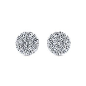 EG12966 Diamond Cluster Earrings