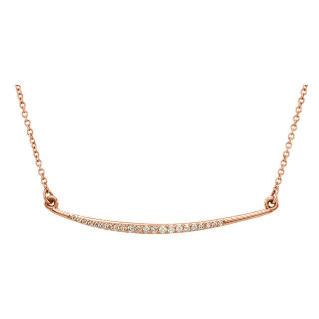 Stuller Curved Diamond Bar Necklace