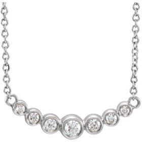 Curved Diamond Bezel Necklace