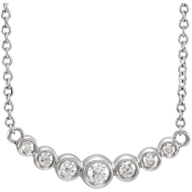Curved Diamond Bezel Necklace