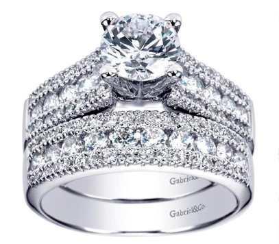 Gabriel & Co ER3952 Contemporary Engagement Ring