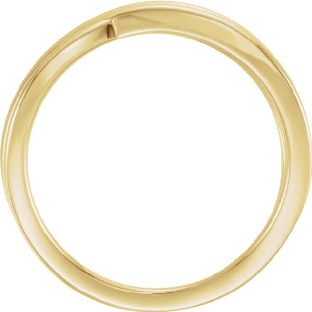 Stuller 14kt yellow gold criss cross ring
