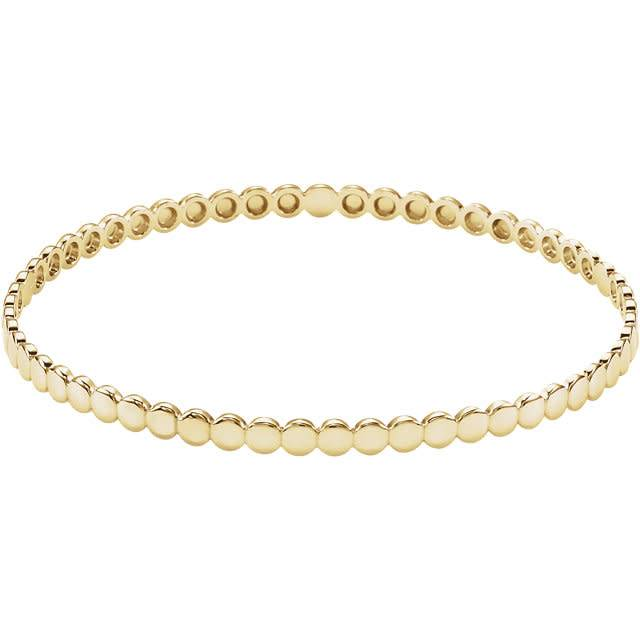 Stuller BRC761 14kt gold bead bracelet
