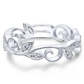 LR4593 vine style diamond band