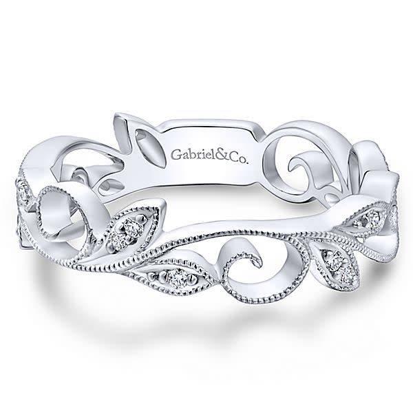 LR4593 vine style diamond band