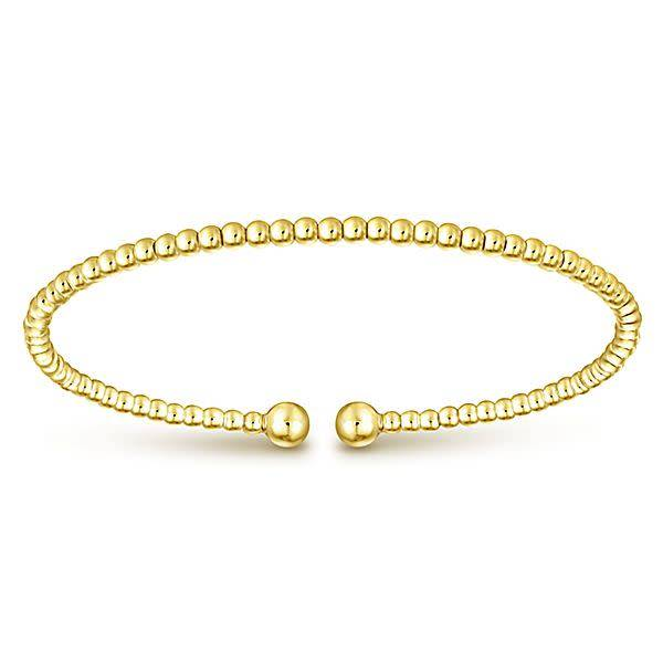 Gabriel & Co BG4107 14kt yellow gold ball bangle bracelet