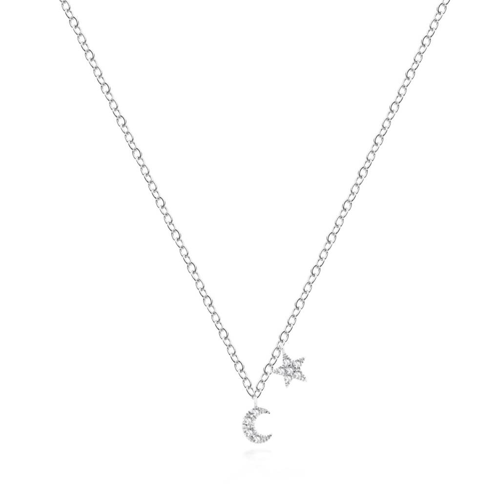 1NK14 Mini Moon & Star Necklace