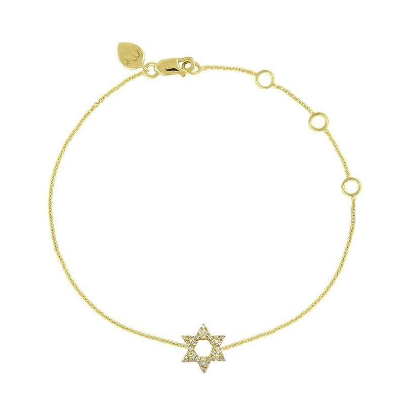 Meira T Star of David Diamond Bracelet