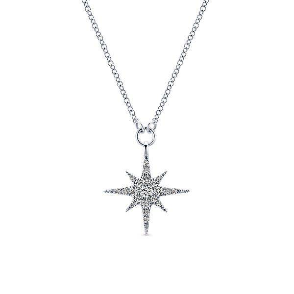 NK4847 Diamond Starburst Necklace