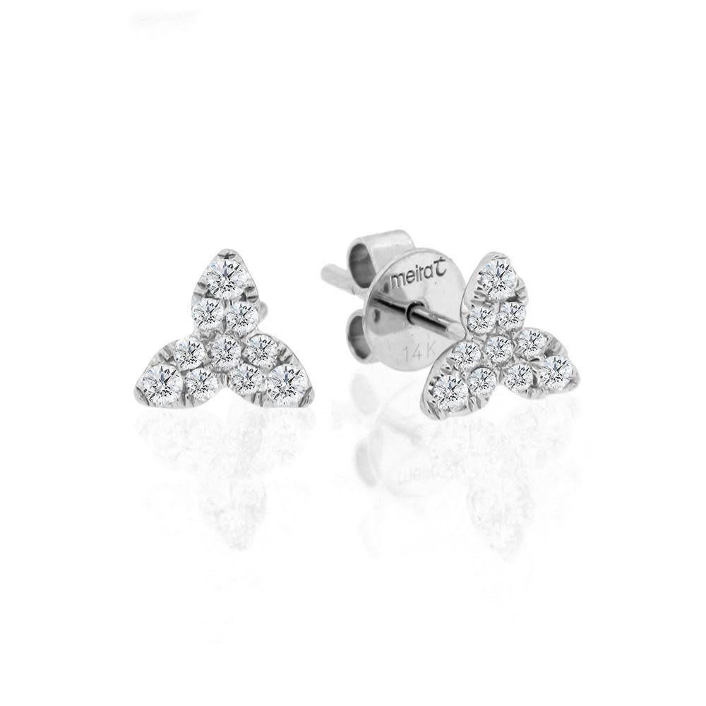 Floral diamond earrings 0.22 carat total