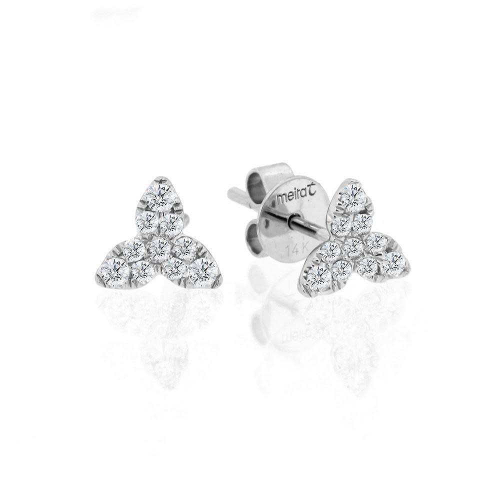 Meira T Floral diamond earrings 0.22 carat total