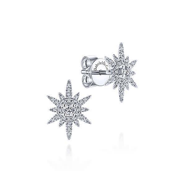 Gabriel Co Diamond Starburst Earrings