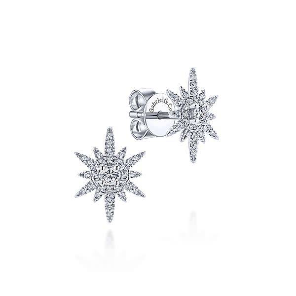 Gabriel & Co Diamond Starburst Earrings