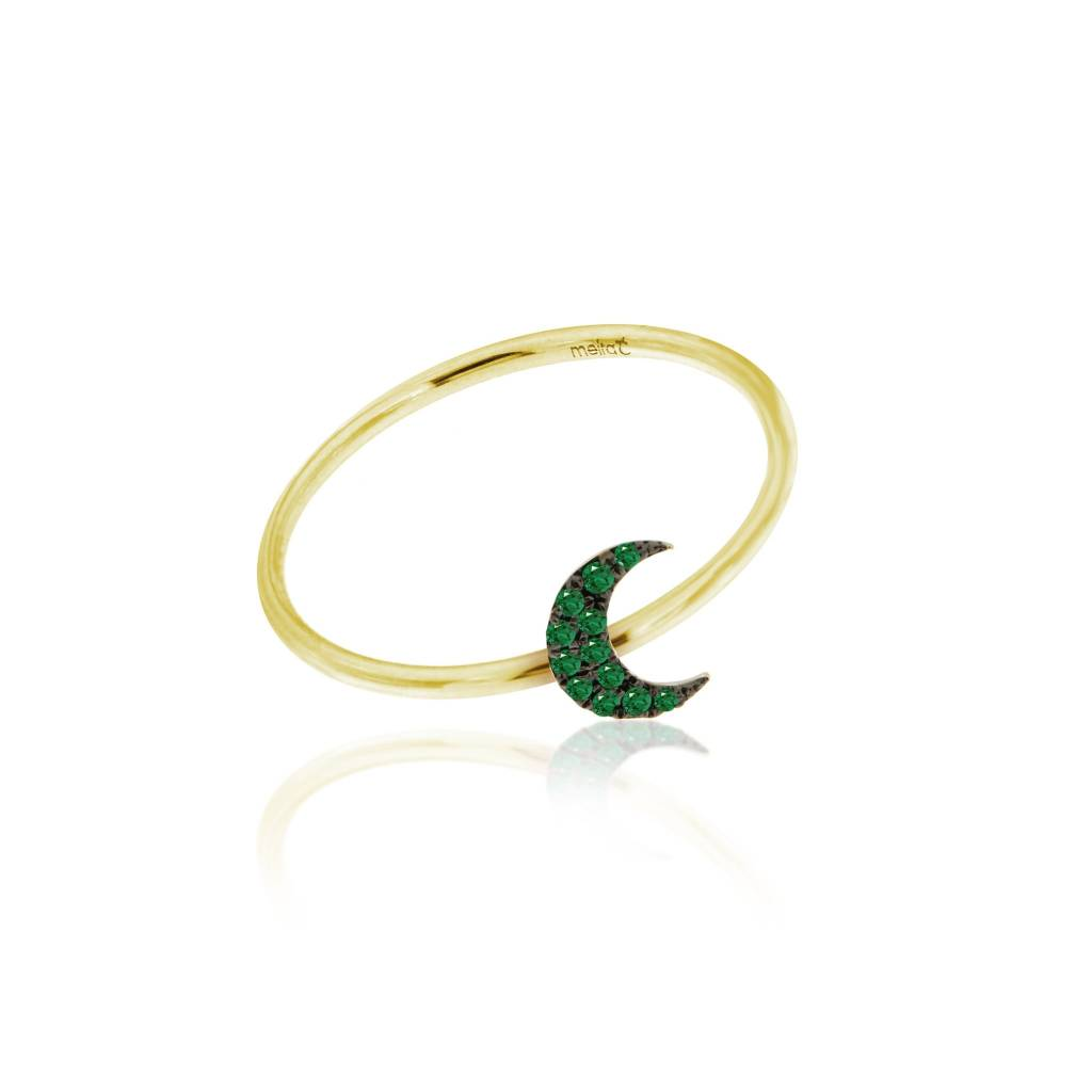 Meira T Essential Emerald Moon Ring