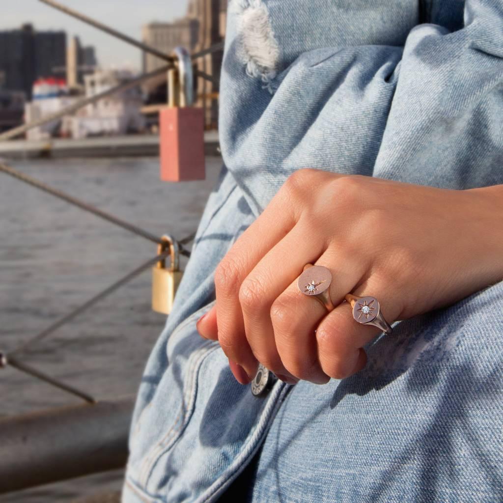 Meira T Starburst Signet Ring