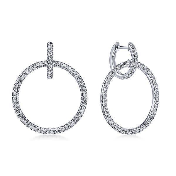 Gabriel & Co Diamond Huggie earrings