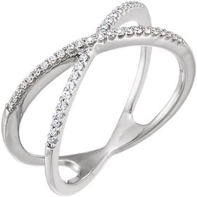 14kt gold criss cross diamond band